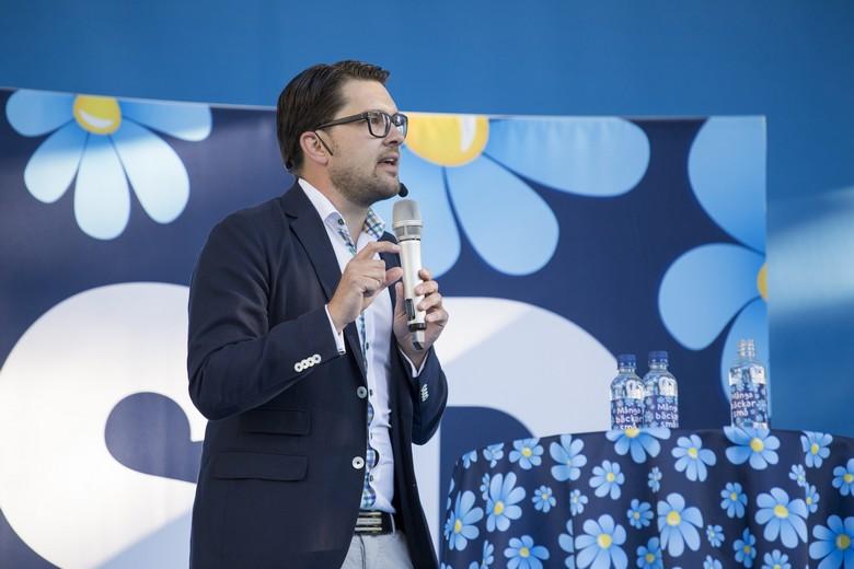 Jimmie Åkesson, chef des Démocrates de Suède, en juillet 2015