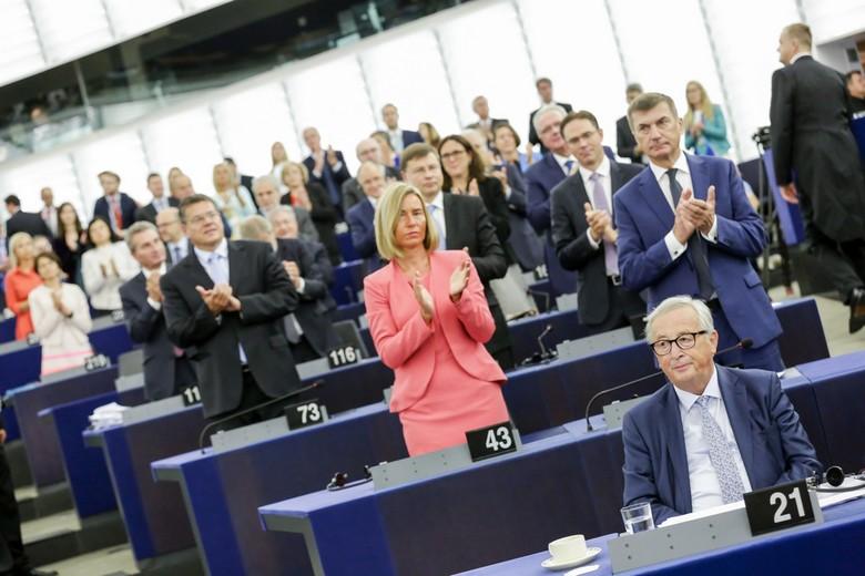 Jean-Claude Juncker au Parlement européen, le 12 septembre 2018