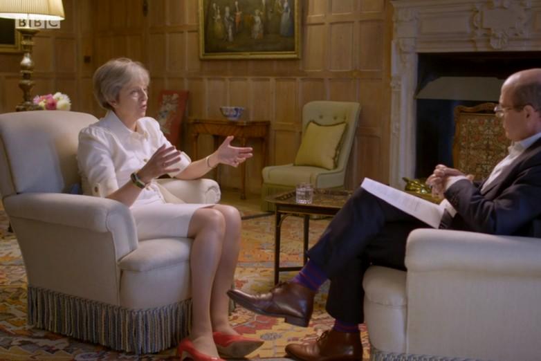 Theresa May interviewée par la BBC, lundi 17 septembre