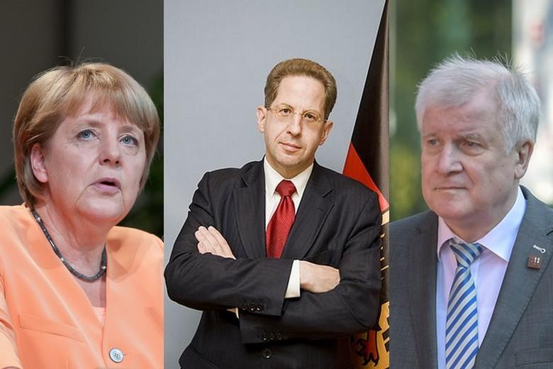 Angela Merkel, Hans-Georg Maassen et Horst Seehofer