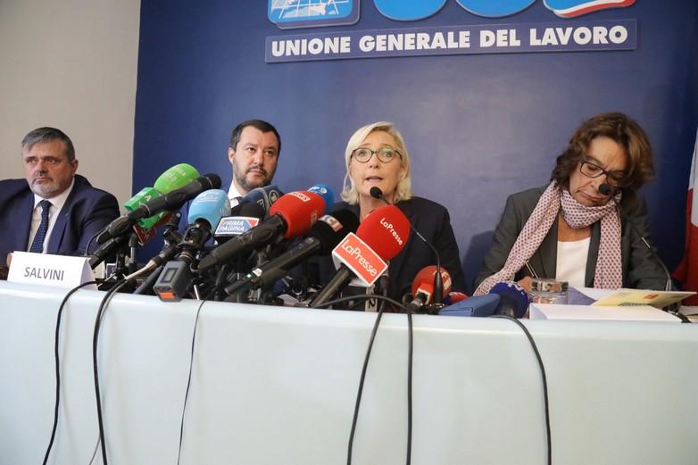 Matteo Salvini et Marine Le Pen à Rome, le 8 octobre 2018