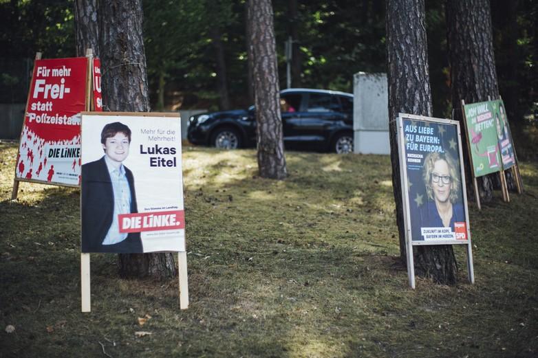 Affiche de campagne en Bavière