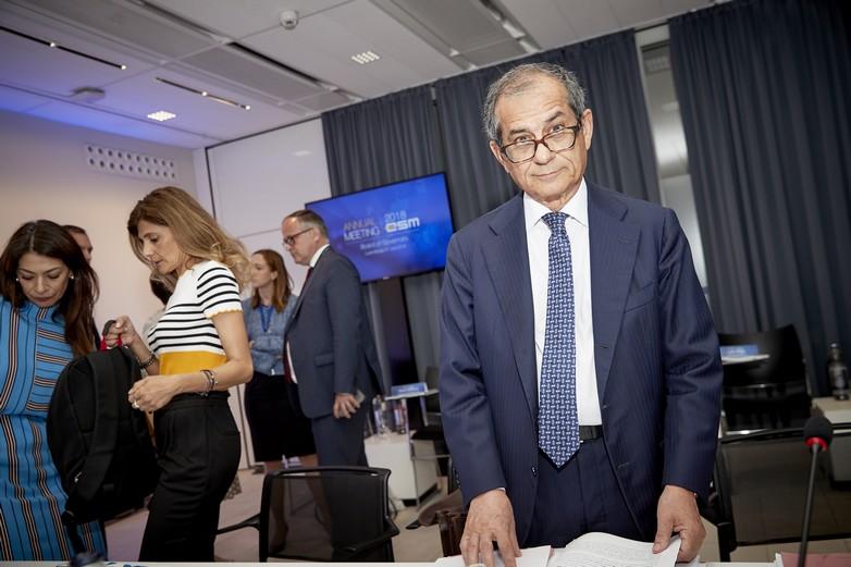 Le ministre italien des Finances Giovanni Tria à Bruxelles en juin 2018