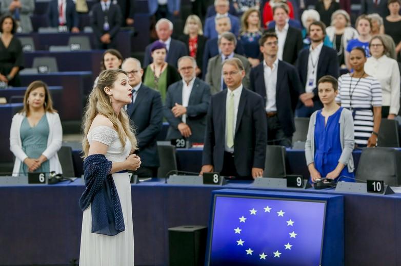 Ouverture de la législature 2019-2024 au Parlement européen avec l'Ode à la joie