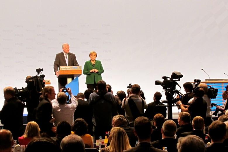 Angela Merkel et Horst Seehofer en 2012