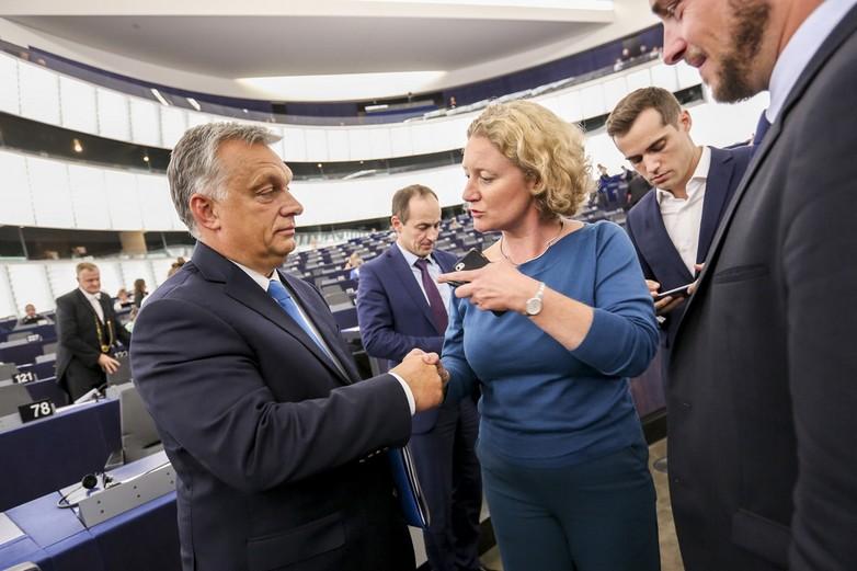 Viktor Orbán et Judith Sargentini au Parlement européen, le 11 septembre 2018