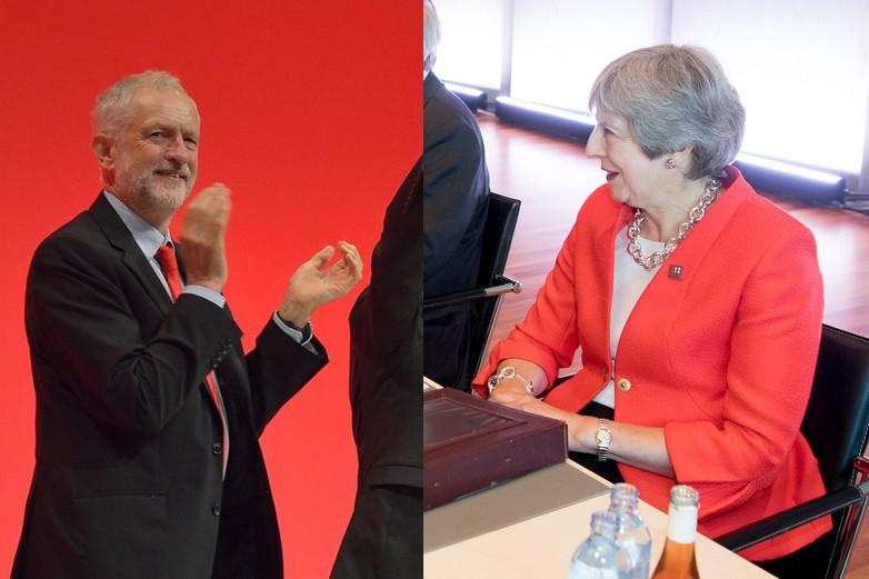 Jeremy Corbyn au congrès du Labour et Theresa May à Salzbourg