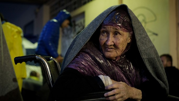 Réfugiée afghane à Lesbos