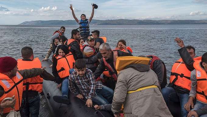 Arrivée de réfugiés en Grèce, en octobre 2015