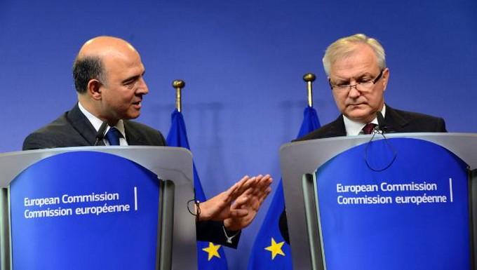 Rehn et Moscovici (c) UE 2013