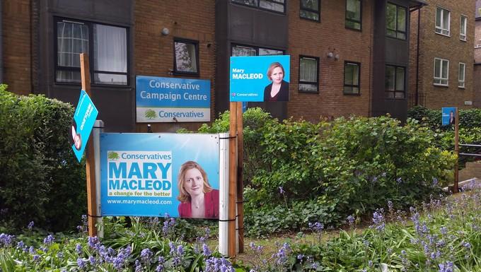 QG de campagne du Parti conservateur dans la circonscription de Brentford et Isleworth