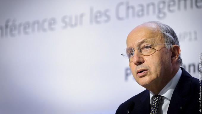 Laurent Fabius, lors de la COP21