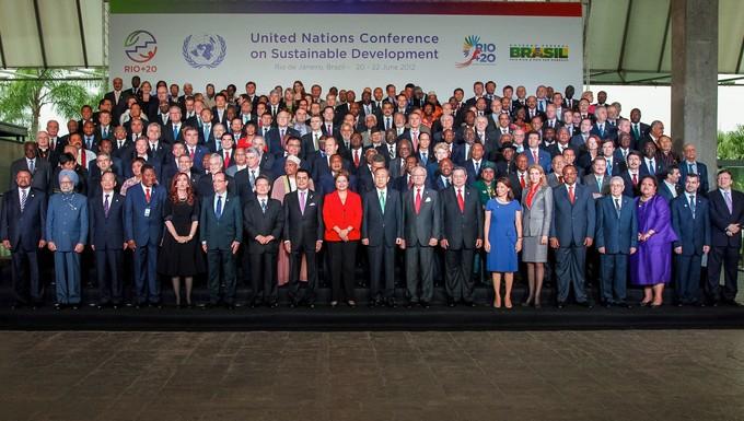 Les chefs d'Etats et de gouvernement lors de la conférence Rio+20 en 2012