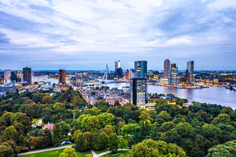 Centre-ville de Rotterdam (Pays-Bas)