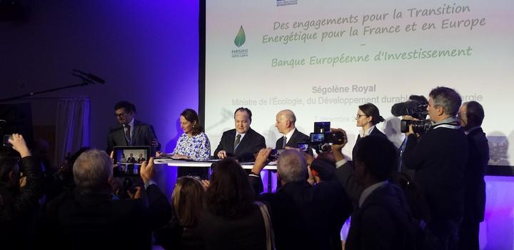 Ségolène Royal et Ambroise Fayolle, vice-président de la BEI