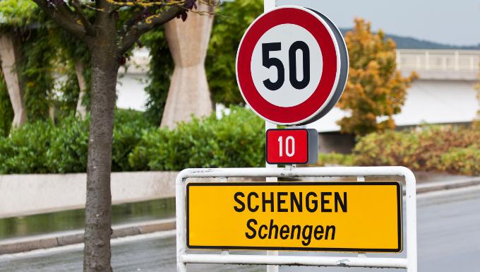 Panneau de Schengen