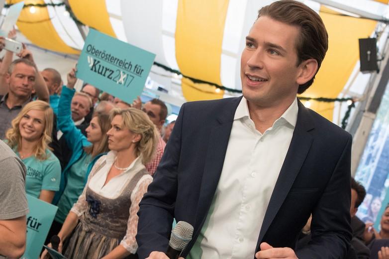 Sebastian Kurz, leader du Parti populaire autrichien, le 15 septembre 2017
