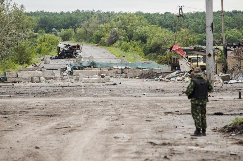 La ligne de front, près de la ville de Sloviansk, vue depuis le côté loyaliste, en juillet 2014 - Crédits : Sasha Maksymenko / Flickr CC BY-NC 2.0