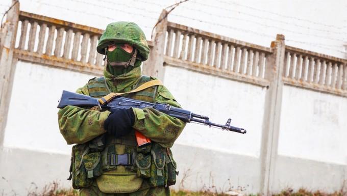Soldat russe Crimée Ukraine