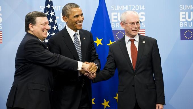 Sommet UE-USA 26 mars 2014 Barack Obama TTIP accord de partenariat transatlantique