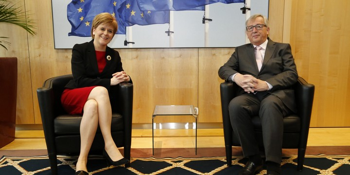 Nicola Sturgeon et Jean-Claude Juncker