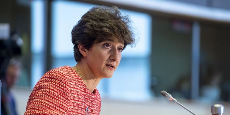 Sylvie Goulard lors de son audition au Parlement européen à Bruxelles le 2 octobre - Crédits : Eric Vidal / Parlement européen