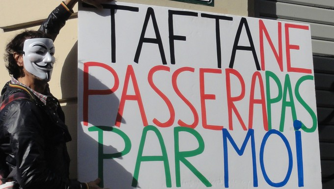 Opposant au TAFTA, en 2014