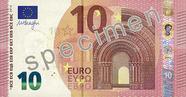 Billet de 10 euros série Europe, recto