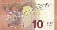 Billet de 10 euros série Europe, verso