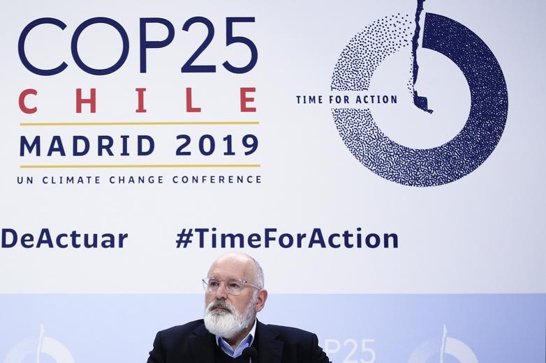 Frans Timmermans, le vice-président exécutif de la Commission européenne en charge de l'Action climatique, a porté tant bien que mal la voix de l'UE au sommet sur le climat - Crédits : Benjamin Cremel / Commission européenne