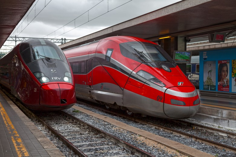 Un train Alstom AGV, à la gare de Rome Termini, le 19 mars 2018 - Crédits : istockphoto / Gwengoat