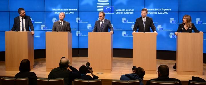 Conférence de presse au Sommet social tripartite du 7 mars