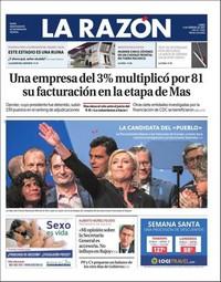 Une de La Razon, 6 février 2017
