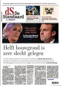 Une de De Standaard, 6 février 2017