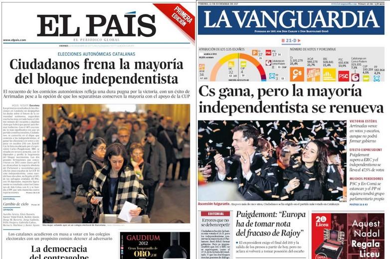 élections catalogne cuidadanos puigdemont arrimadas