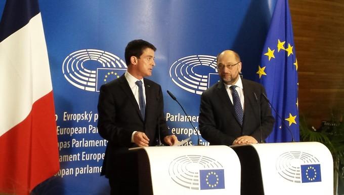 Manuel Valls et Martin Schulz