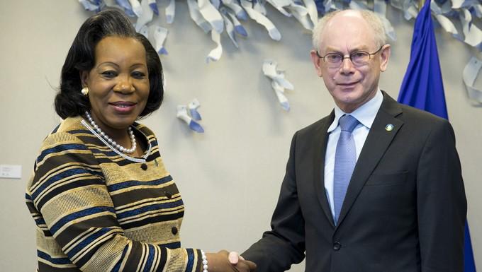 Van Rompuy et Samba-Panza - sommet UE-Afrique 2 avril 2014