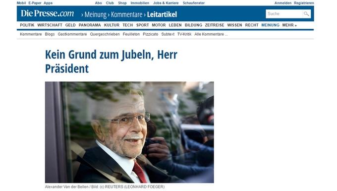 Die Presse - Alexander Van Der Bellen