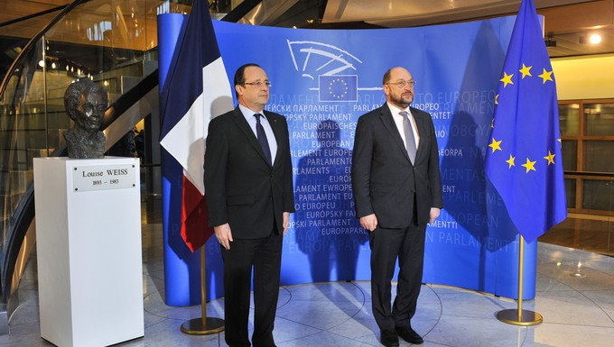 François Hollande Martin Schulz Parlement européen février 2013
