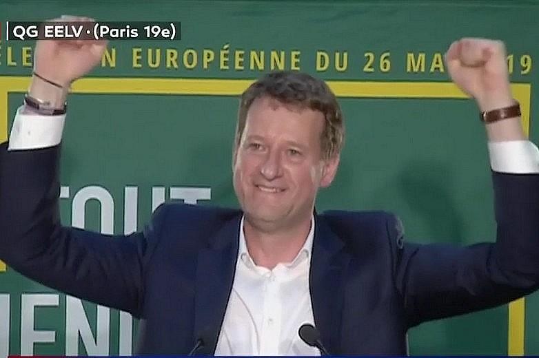 Yannick Jadot, la tête de liste des écologistes français (EELV) le soir des élections européennes 2019 - Crédits : Capture d'écran / LCI