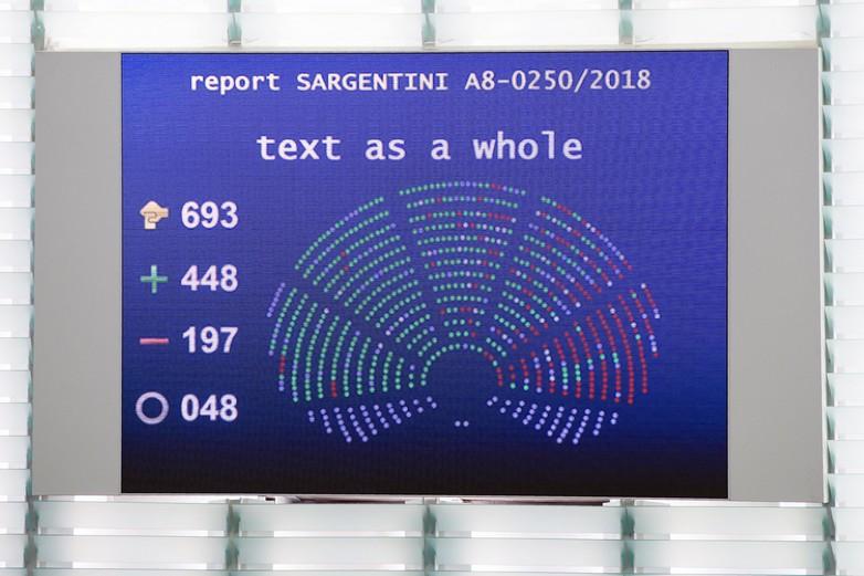 Les eurodéputés ont approuvé à 448 voix le rapport Sargentini qui demande le déclenchement de la procédure de l'article 7 vis-à-vis de la Hongrie - crédits : Parlement européen / Flickr