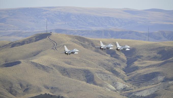 Trois F-16 de la Turkish Air Force