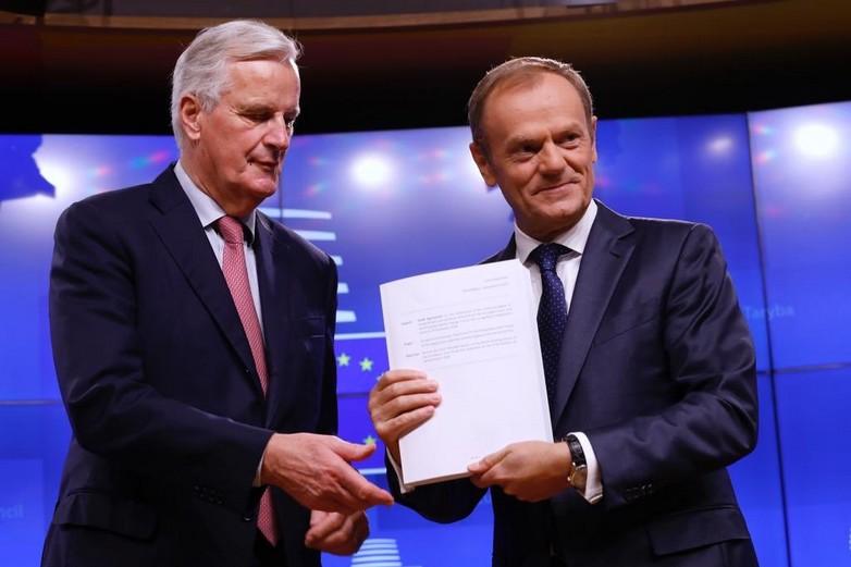 Michel Barnier et Donald Tusk, le 15 novembre - Crédits : Donald Tusk / Twitter