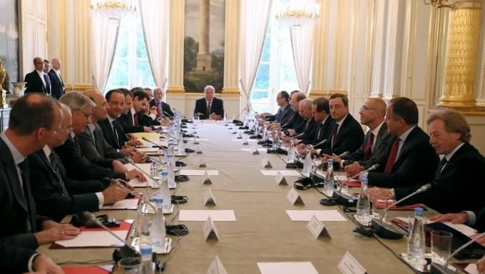 Entretien avec le Conseil des gouverneurs de la Banque centrale européenne (c) Présidence de la République
