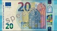 Billet de 20 euros série Europe, recto