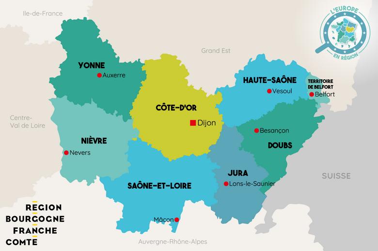 L'Europe en région : Bourgogne-Franche-Comté