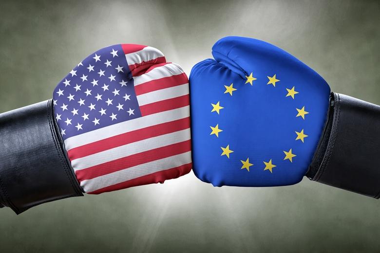 Un match de boxe entre les Etats-Unis et l'Union européenne
