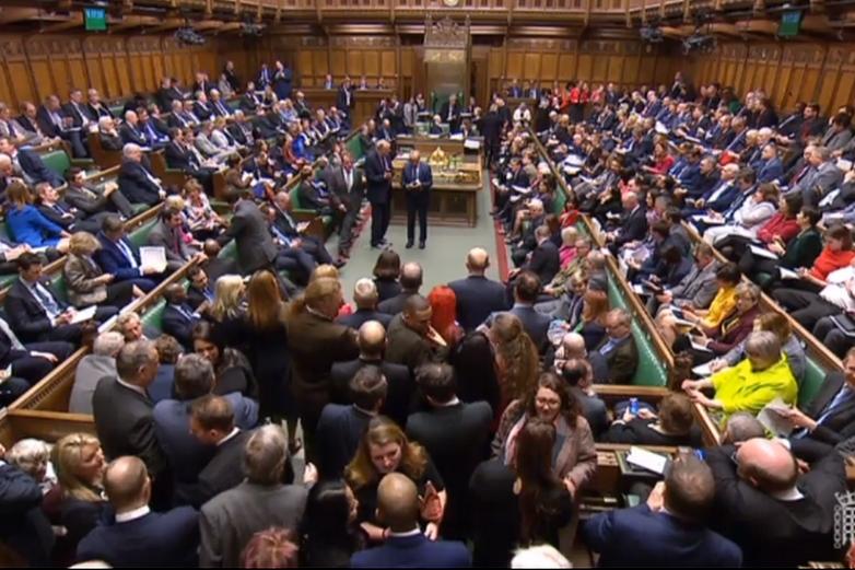 La séance du 27 mars 2019 à la Chambre des communes - Crédits : Capture d'écran / chaîne du Parlement britannique