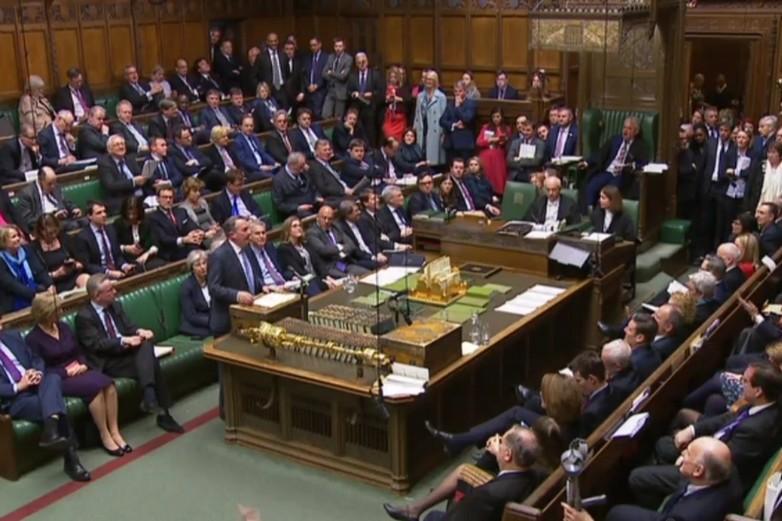 Les députés britanniques débattent en amont du vote sur le no deal, mercredi 13 mars - Crédits : Parlement britannique (copie d'écran)