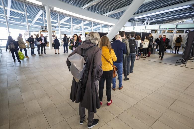 Bureau de vote à Utrecht aux Pays-Bas le 23 mai 2019 - Crédits : Robert Meerding / Parlement européen